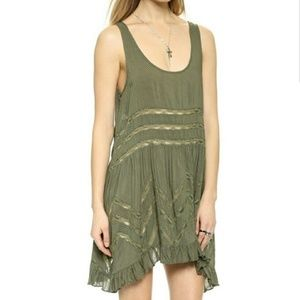 Free People Voile & Lace Trapeze Slip Size M